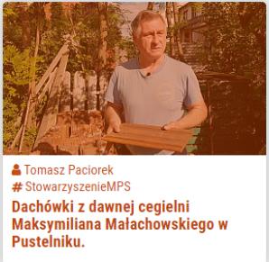 Dachówki z dawnej cegielni Maksymiliana Małachowskiego w Pustelniku